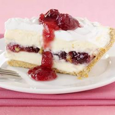 Cranberry-Walnut Cheesecake Pie
