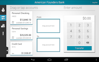 Screenshot of AFB Mobile Banking