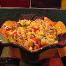 Corn & Veggie Salad with Spicy Lime Dressing