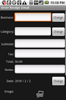 Screenshot of Receipt Filer Gold