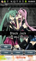 Screenshot of BlackJack with Miku Hatsune