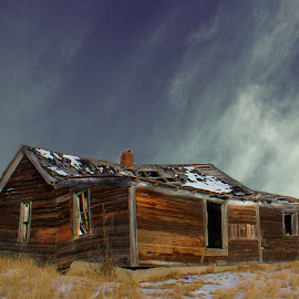 Lost Home by Dustin White - Buildings & Architecture Decaying & Abandoned ( broken, contrast, house, antique, prairie, decay, abandoned,  )