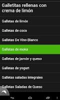 Screenshot of Recetas de Galletas