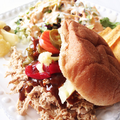 Healthified Crock Pot Pulled Pork & Mustard B.B.Q. Sauce