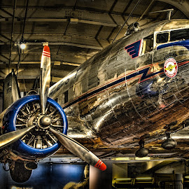 Flight in the Museum by Chris Thomas - Transportation Airplanes ( propeller, vintage, aircraft, musuem, henry ford, antique,  )