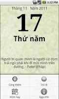 Screenshot of Android Calendar Việt