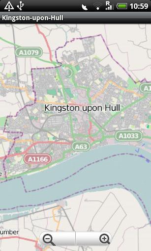 Kingston-upon-Hull Street Map