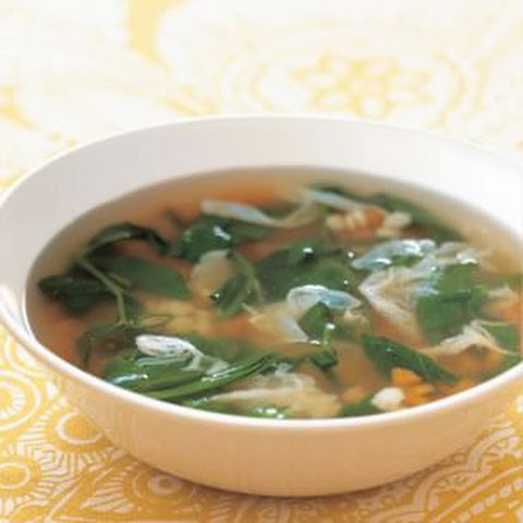 Spring Vegetable Soup with Parmesan and Pasta Stars
