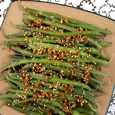 Sesame Garlic Ginger Green Beans
