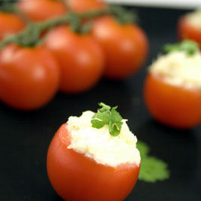 Cheese Stuffed Cherry Tomatoes