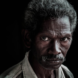Aggresion... by Shirsendu Sengupta - People Portraits of Men