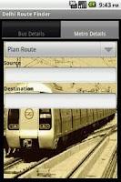 Screenshot of Delhi Route Planner(DTC,Metro)