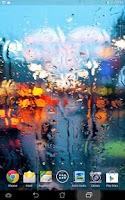 Screenshot of Rain On Glass Live Wallpaper