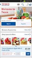 Screenshot of Tesco Groceries