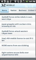 Screenshot of Khaleej Times Mobile