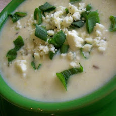 Creamy Celery Soup With Blue Cheese