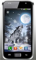 Screenshot of Snow Wolf HD live wallpaper
