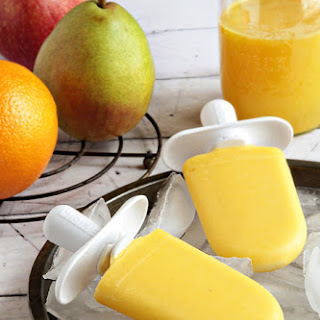 Apple, Pear, and Orange Quick Pops