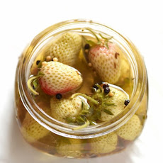 Pickled Green Strawberries