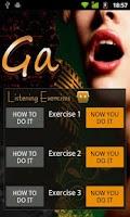 Screenshot of GA Vocal Coaching App