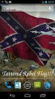Screenshot of Rebel Flag Live Wallpaper Free