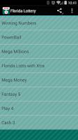 Screenshot of Florida Lottery