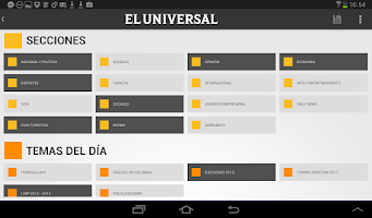 Screenshot of El Universal for tablet