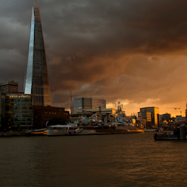 The Shard, London by Paul Timms - Buildings & Architecture Office Buildings & Hotels ( shard, thames, belfast, sunset, london. )
