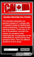 Screenshot of Citizenship Test - Canadian