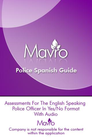 Police Spanish Guide PSG