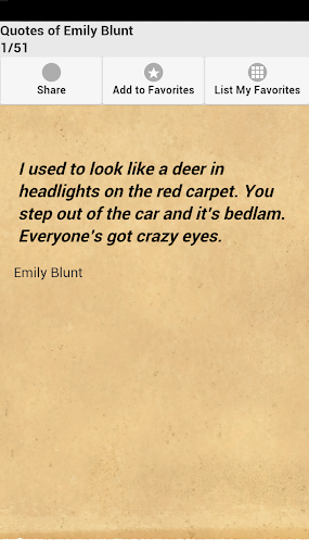 Quotes of Emily Blunt APK