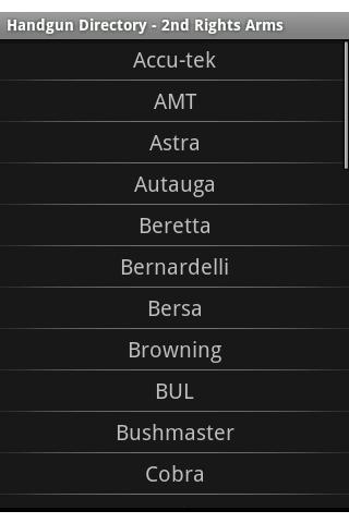 Semi-Auto Handgun Directory