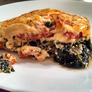 Meatless Monday ~ Spinach and Tomato Tart