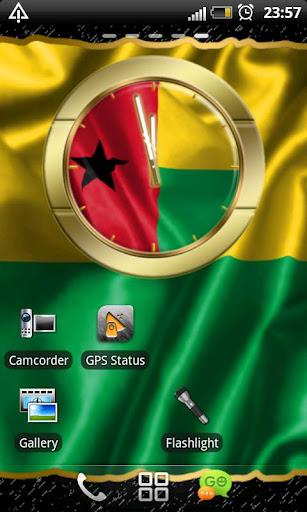 Guinea Bissau flag clocks