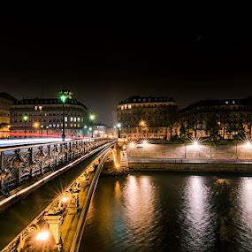 The bridge by Ivan Bertusi - City,  Street & Park  Night ( parigi, francia, d7100, parigi 2014 )