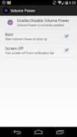 Screenshot of Power Button to Volume Button