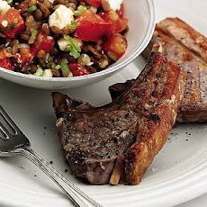 Lamb Chops With Warm Lentils And Feta