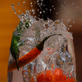 The First Element by Supratik Chakraborty - Food & Drink Fruits & Vegetables ( water, supratikc, element, fruit, splash, color, food, drink, vegetables )
