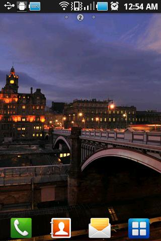 Edinburgh City Night Wallpaper