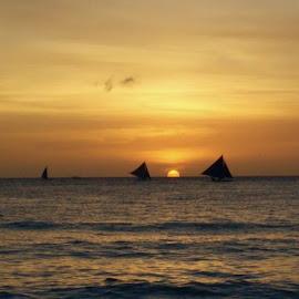 Beautiful Sunset of Boracay by Vivek Sadhineni - Nature Up Close Water