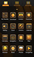 Screenshot of Golden Steel GO Launcher Theme