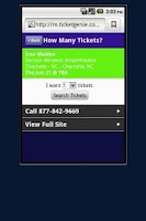 Screenshot of Seether Tickets