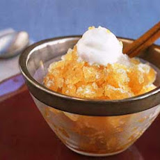 Spiced Apple-Cider Granita with Ginger Whipped Cream