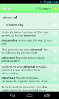 Screenshot of English Polish Dictionary