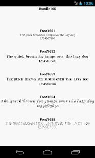 Fonts for FlipFont 165 - screenshot
