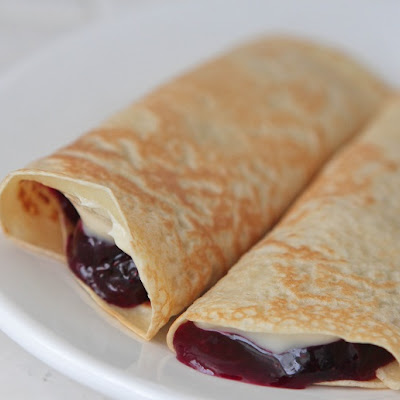 Creamy Lemon Blueberry Crepes
