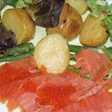 Smoked Salmon and Caviar Salad