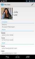 Screenshot of Share My Contact