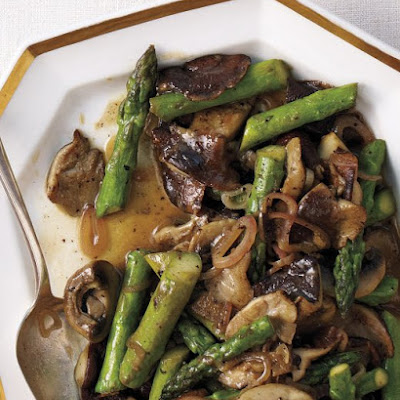 Mushrooms and Asparagus with Sherry Vinaigrette