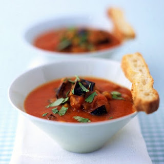 Roasted Tomato and Eggplant Soup
